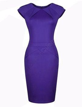 Мода дамы офис платье длиной до колен винтаж Bodycon карандаш женская летнее платье 2014 новинка женская одежда рабочая одежда SV10