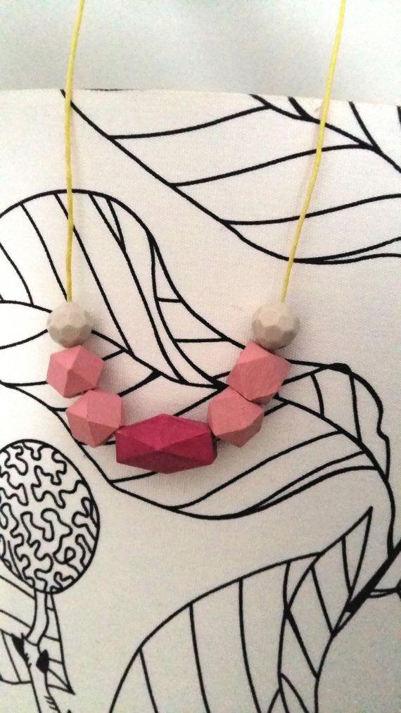 Geometric necklace by Bibighirigory on Etsy