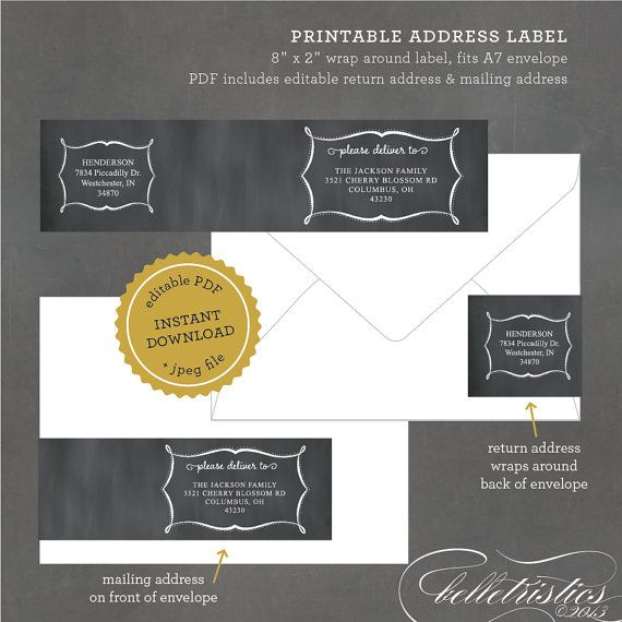 25+ Best Ideas About Address Label Template On Pinterest | Free