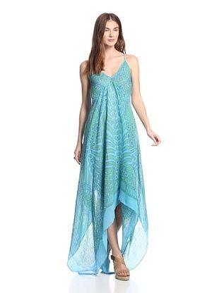 49% OFF Theodora & Callum Women's Tonga Scarf Dress (Turq Multi)