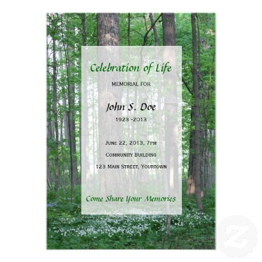 18 best Celebration Of Life Invitations images on Pinterest