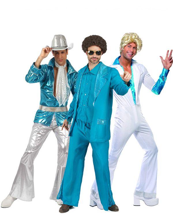 Déguisement de groupe disco bleu : Déguisement disco bleu hommeCe déguisement disco pour homme se compose d'une veste, d'un gilet sans manche et d'un pantalon (chaussures et lunette non incluses). La veste...
