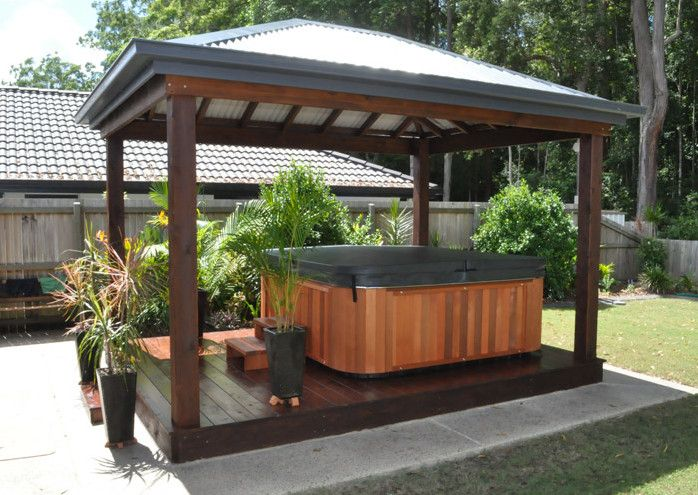 Outdoor Hot Tub Landscaping Ideas Hot Tubs Jacuzzis