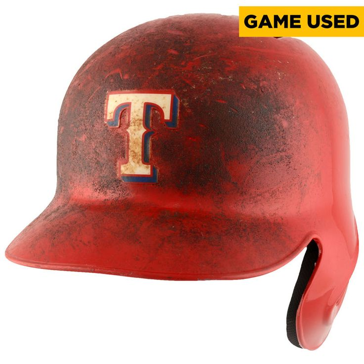 Bryan Holaday Texas Rangers Fanatics Authentic Game-Used #3 Red Helmet vs. Baltimore Orioles on April 15, 2016