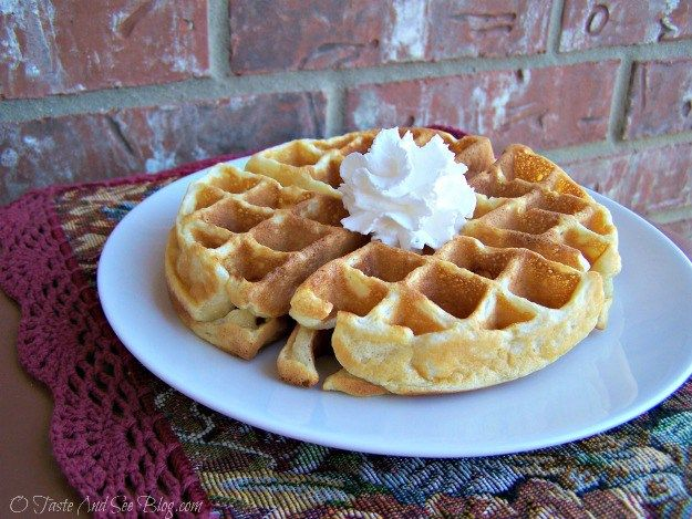 """Easy Belgian Waffle Recipe, light, fluffy, easy and delicious. """"The best waffles I've ever eaten,"""" says one fan."""