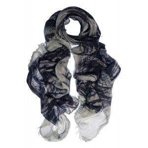 Fular gris Faliero Sarti de modal seda y cashmere www.sanci.es