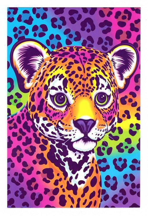 Lisa Frank Hunter the Leopard Cub Postcard via Etsy