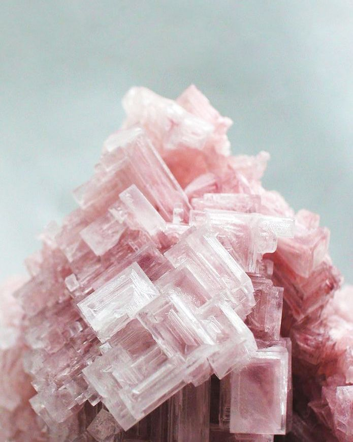 Pink halite. @thecoveteur