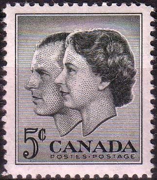 Canada 1957 Royal Visit Fine Mint SG 500 Scott 374 Other North American and British Commonwealth Stamps HERE!