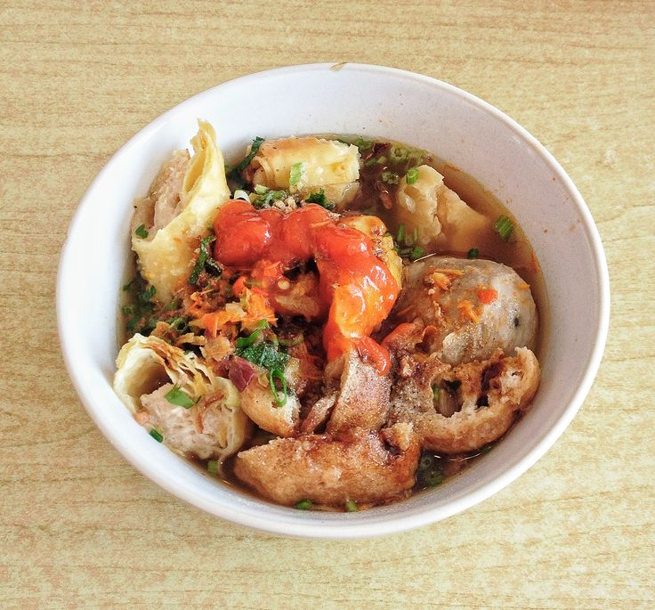 Bakso, indonesia food.. So nyummy. The taste between hot spicy and sweet...