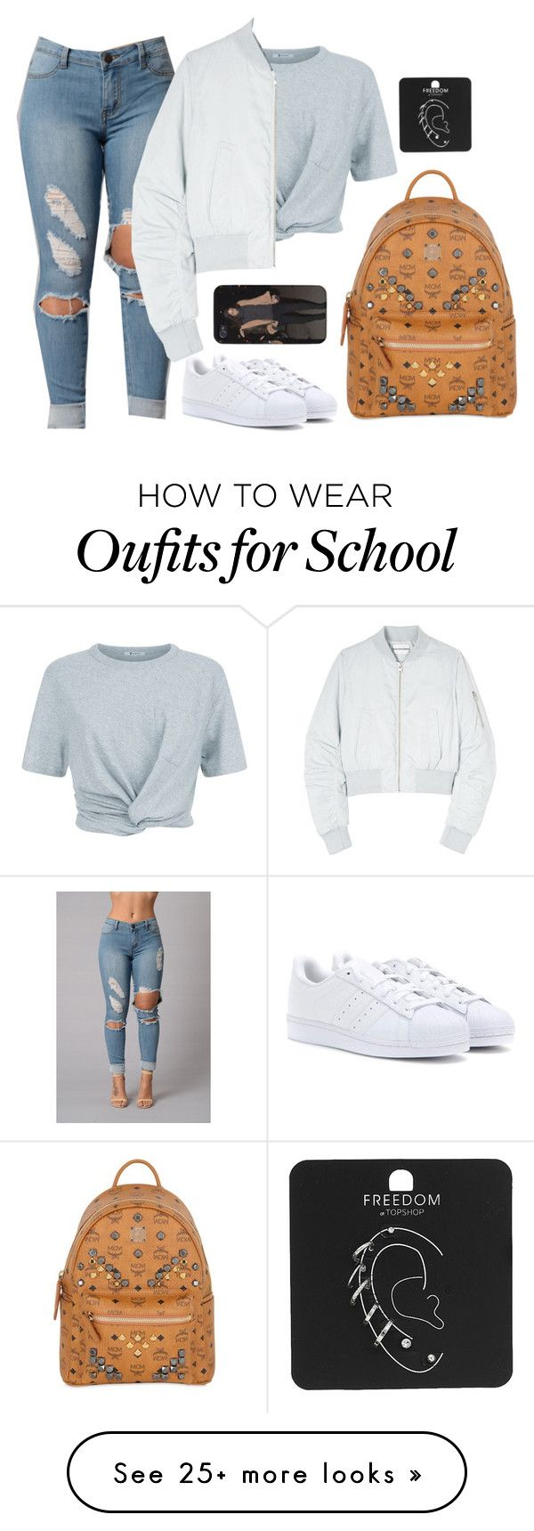 """Back To School"" by tomgurl on Polyvore featuring T By Alexander Wang, adidas, Won Hundred, MCM and Topshop"