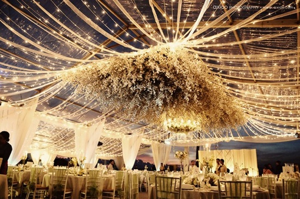best wedding scene: Decor, Lights, Outdoor Wedding, Ideas, Wedding Receptions, Tents, Dreams, Thatched Roof, Hanging Flower