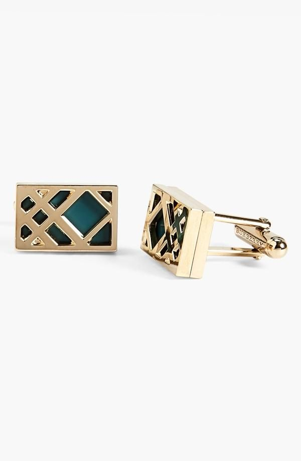 Burberry Check Cuff-links