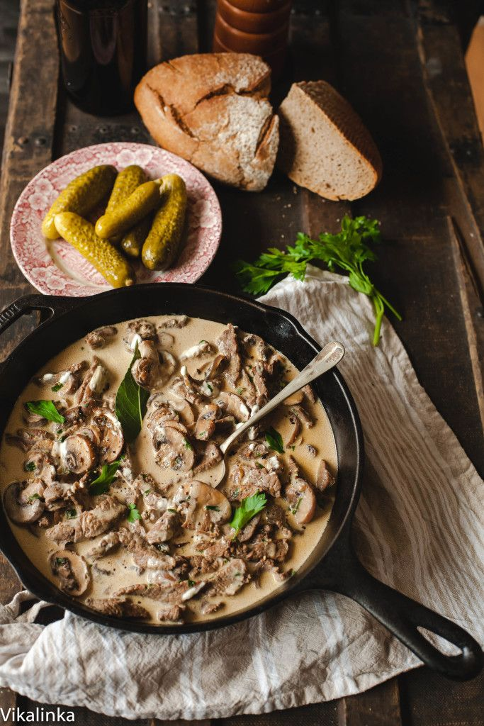 Best authentic Beef Stroganoff recipe - This is THE BEST stroganoff I've ever had. Sub in dry mustard for the whole mustard