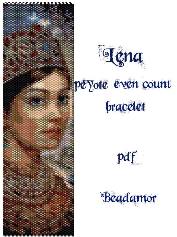Peyote Pattern for bracelet: Lena INSTANT DOWNLOAD by Beadamor