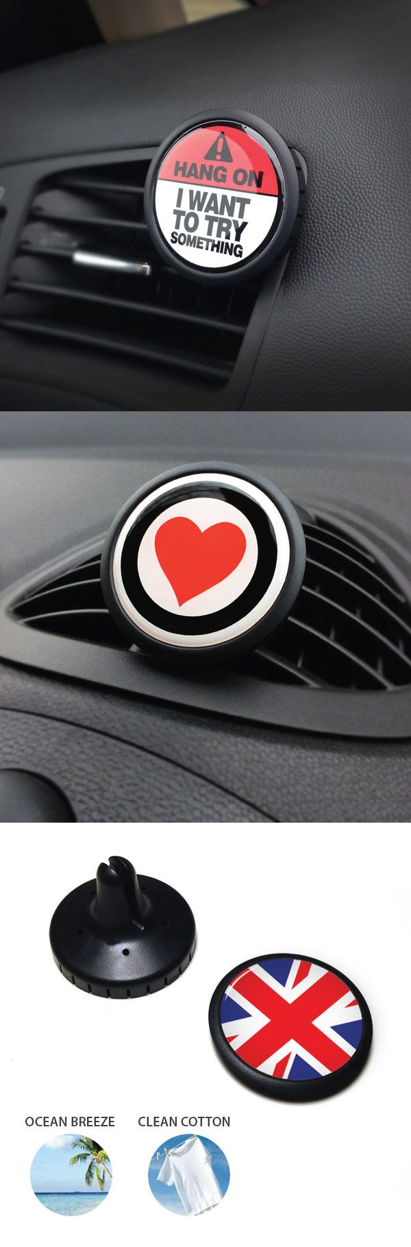 Automotive air freshener interior badge clip breathe happy now you can add a note of freshness to your car while eliminating odors in gobadges style