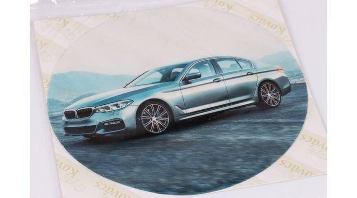 Ezüst színű autó tortaostya - Süss Velem.com