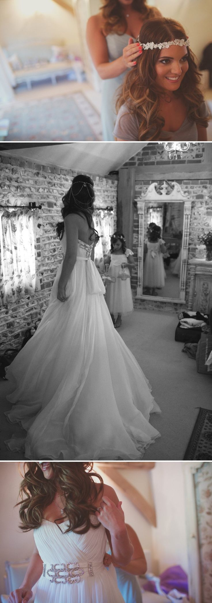 A bohemian wedding at Upwaltham Barns Chichester with a Manuel Mota bridal gown by LIsa Devlin 0230 Bohemian But With A Modern Twist.