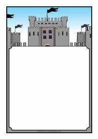 Castles-themed A4 page borders (SB4214) - SparkleBox