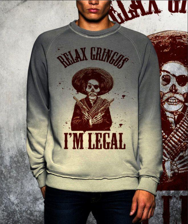 Shade grey dip dye sweatshirt new collection fashion 2017 Mexican Gringos di UnconventionalTees su Etsy