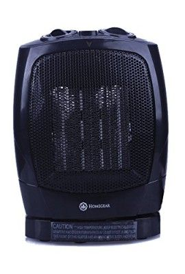 Homegear-1500W-Ceramic-Heater-with-Electric-Oscillating-Fan-TabletopFloor-Heater-with-Thermostat-0