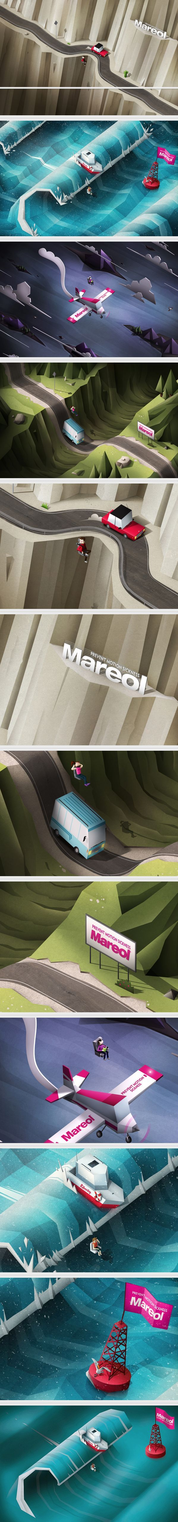 Amazing low poly stylised scenes. Very cool from http://www.behance.net/gallery/Mareol/5303147