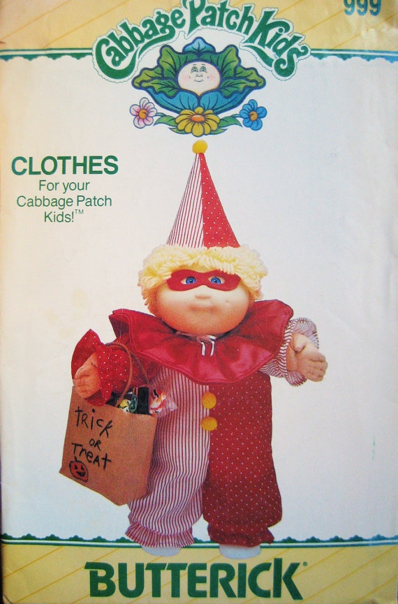 Cabbage Patch Kids Clown CostumeCostumes Pattern, Cabbages Patches Kids, Kids Cabbages Costumes, Clown Costumes, Kids Clowns, Clowns Costumes, Clowns Halloween, Kids Sewing Patterns, Cabbage Patch Kids