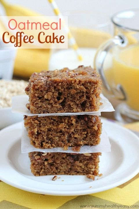 Oatmeal Coffee Cake | delicious breakfast cake made using oatmeal for ...