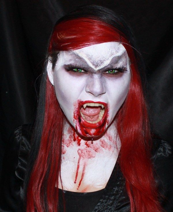 scary vampire costume makeup for halloween - Scary Vampire Halloween Costumes
