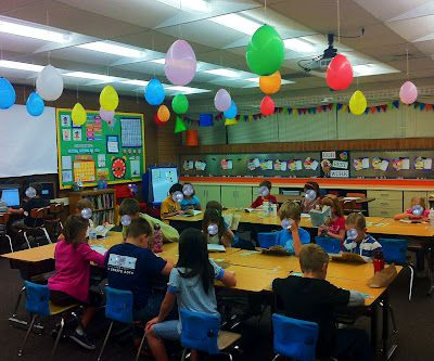"""""""I did this last year and the kids loved it!! Countdown to last day of school. Pop one balloon each day. Inside is a special surprise for the day. Ex. No homework, read outside, work with no shoes on, chew gum in the morning, etc."""""""