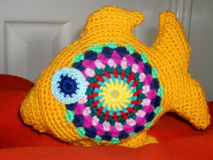 Hand made crochet plush. colourful fish.  http://www.etsy.com/shop/threadsnshreds