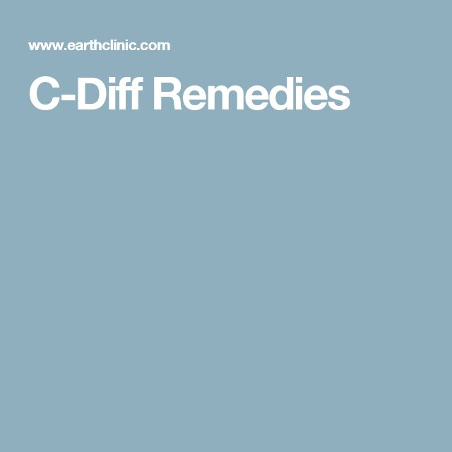 C-Diff Remedies