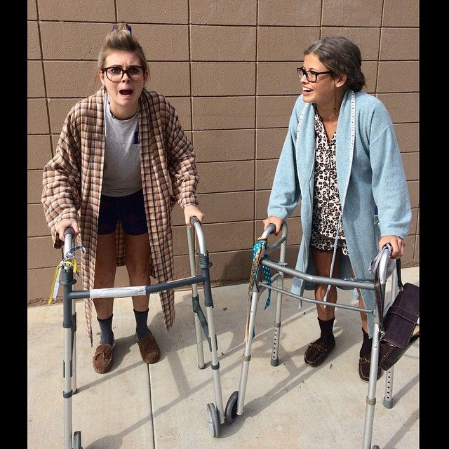 Pin for Later: LOL! 15 Hilarious Halloween Costumes For BFFs Old Ladies