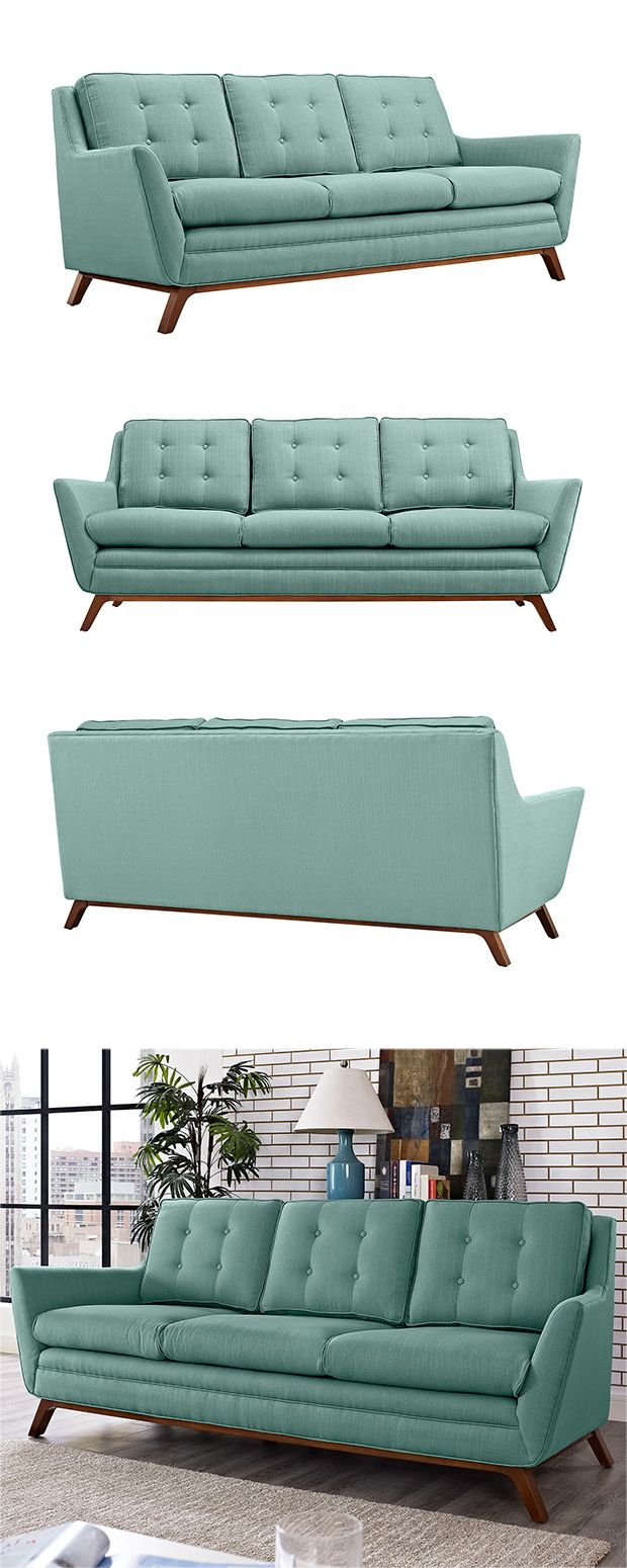 Take a seat or restful afternoon nap on this stylish and charmingly hued fabric sofa. Inspired by chic, mid-century silhouettes, this Synchronicity Fabric Sofa features a clean, angular seat design and...  Find the Synchronicity Fabric Sofa, as seen in the #SoftSideofMidCentury Collection at http://dotandbo.com/collections/soft-side-of-mcm?utm_source=pinterest&utm_medium=organic&db_sku=117689