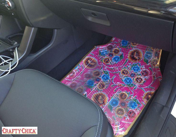 How to make oilcloth car mats! CraftyChica.com