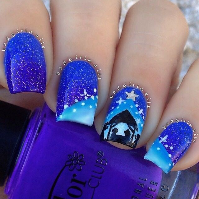 255 best Christmas nail art images on Pinterest | Christmas nail ...