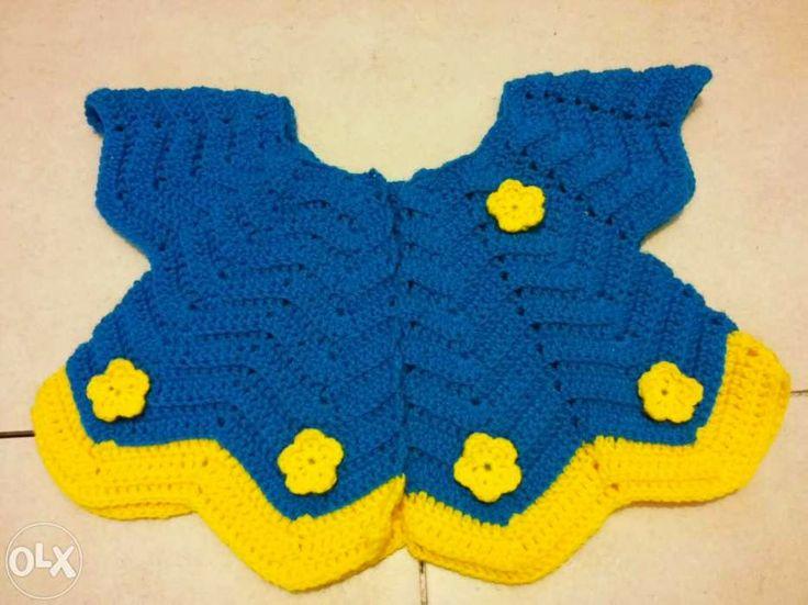 Szydełkowy sweterek dla dziewczynki. Polecam!
