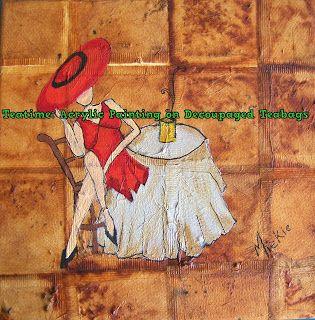 A Pretty Talent Blog: Teabag decoupage