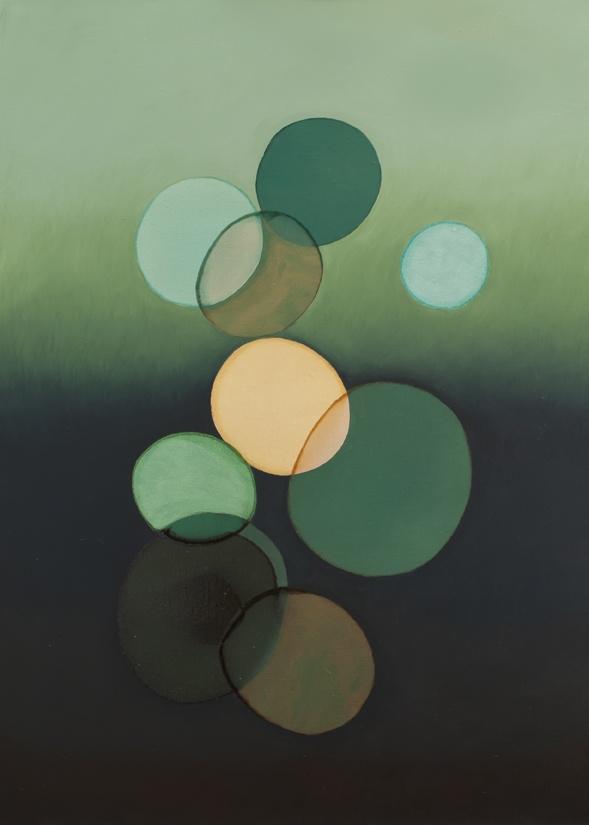 2012-021 • pithari - pithari 3 - 100 x 70 cm - oil and lacquer on canvas - olaj, lakk, vászon - romvári márton contemporary art