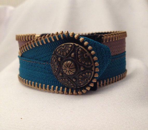 Fashion Jewelry Zipper Bracelet by HopeandPlay on Etsy