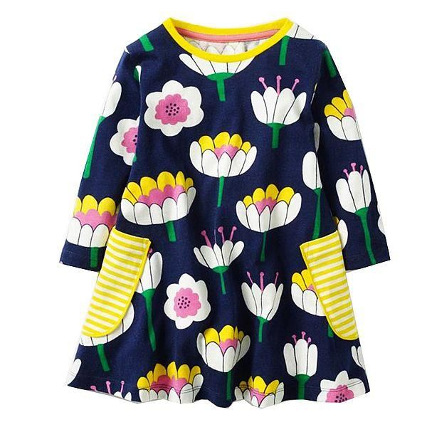 Girls Dress Baby Girls Clothes Kids Christmas Dresses Cotton Princess Dress with Animal Appliques