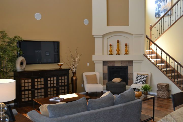 Living Room at The Boulders new home subdivision in NW Albuquerque.