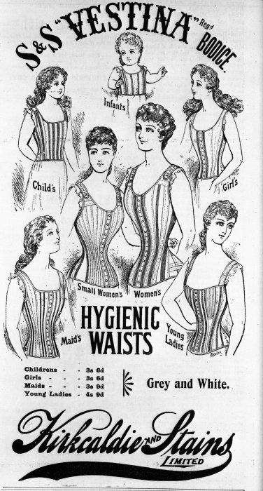 Advertisement for S & S Vestina bodices and Kirkcaldie and Stains Limited