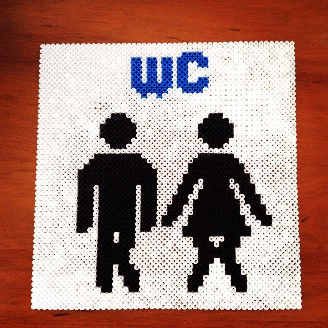 Toilet wc sign hama beads by kreativia83