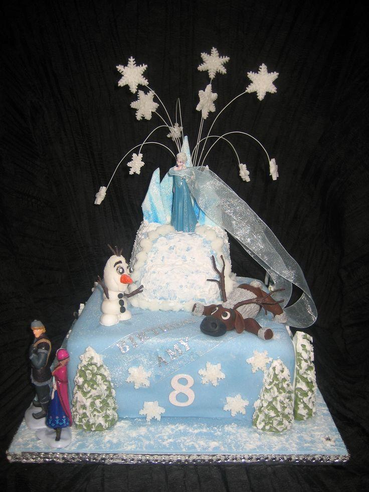 Amy's 8th. Birthday Cake: 'Frozen' - Disney Theme. 2015