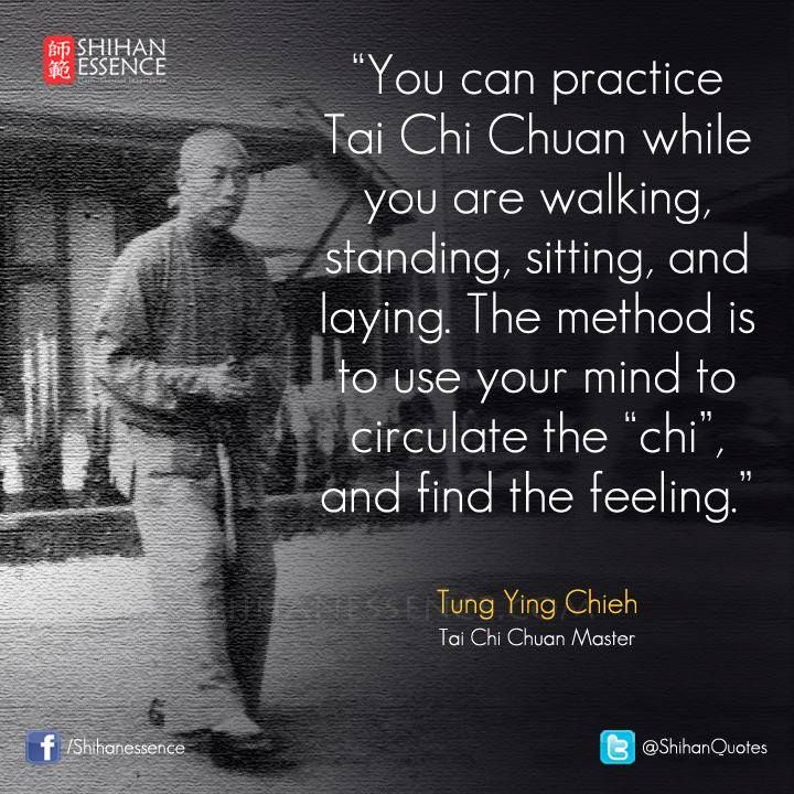 People look at you funny when you randomly practice tai chi, I can't help it though. I like feeling my chi flow.