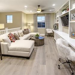 Bonus Rooms and loft spaces at Phoenix Crest, new homes by Benchmark Communities in Rancho Cucamonga