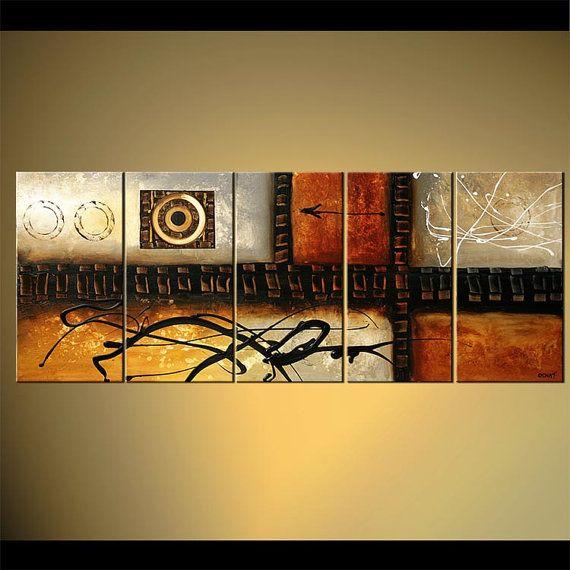Moderno abstracto pintura arte elegancia Original por OsnatFineArt