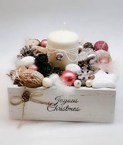 Inkadar / Vianočná dekorácia púdrovo ružová