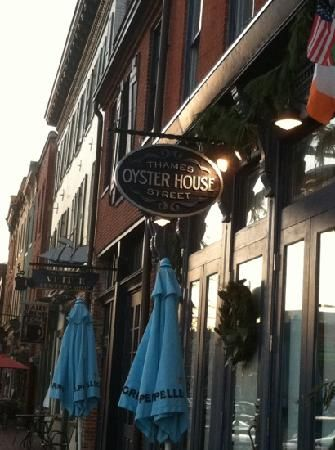 Thames Street Oyster House in Baltimore.  Best crab cake sandwich I've ever had.